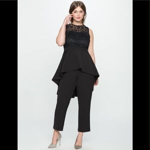 Eloquii High Low Lace Jumpsuit New With Tags - 14